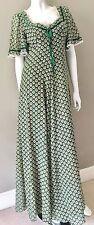 Vintage 60 s maxi dress Folk Boho 70 S Mariage S 10 8 6 2 Bohème Gypsy Prairie Hippy