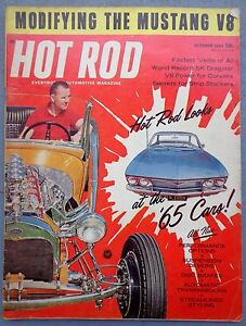 vtg Hot Rod Magazine October 1964 drag race ed roth road agent Kustom cars NHRA