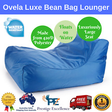 Ovela Bean Bag Lounger Luxe Blue Indoor Outdoor Furniture