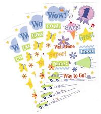 4 Sheets Reward Stickers! Super WOW! Great! SWEET!  Well Done Way to Go!