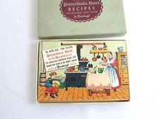 Vintage Yorkraft Pennsylvania Dutch Recipe Packet w/Original Box