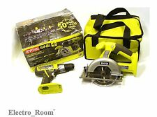 Ryobi P825 18-Volt ONE+ Lithium-Ion Combo Kit (2-Tools) Drill + Saw Bare Tools