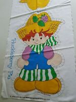 Huckleberry Pie Strawberry Shortcake Character Pillow Fabric Panel 1980 Vintage