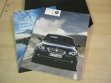 BMW 5 SERIES E60 - E61 SALOON , ESTATE  HANDBOOK OWNERS MANUAL 2007-2010 I DRIVE