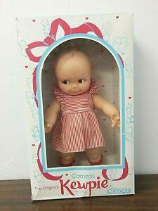"Cameo/Jesco Vintage 1992 12"" Vinyl KEWPIE Doll in Red Striped Dress, MIB"