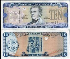 LIBERIA 10 DOLLARS 2011 P 27 UNC