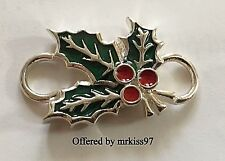 "Convertible Sterling Silver Bracelet Clasp ""Christmas Holly"" New Mint 925"