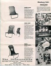 "1950s Sales Sheet: ""Space Seat"" Chairs w/ TV's ""MICKEY MOUSE CLUB"" Chair Photos"