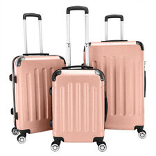 3 x Luggage Set PC+ABS Trolley Spinner 20