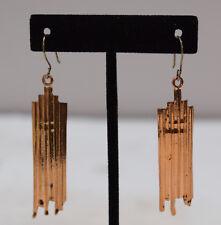 Earrings Plated Copper Art Deco Style Dangle Earrings 70mm