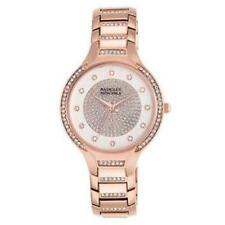 Badgley Mischka Women's 34mm BA/1374WTRG Stainless Rose Gold Crystal Watch NWT