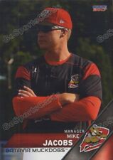 2017 Batavia Muckdogs Mike Jacobs Miami Marlins MGR