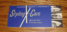 Original 1962-1965 Ford Allegro Mustang II Cougar II X-Cars Concept Brochure 64
