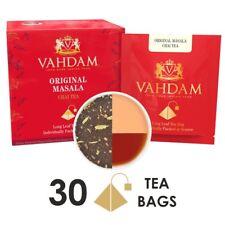 India's Original Masala Chai Tea Bags, 30 TEA BAGS,Black Tea, Cardamom, Cinnamon