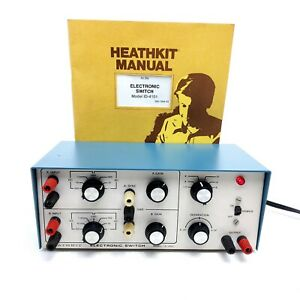 Vintage Heathkit Radio Electronic Switch Model ID-4101 With User Manual Blue