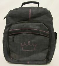 New! Thirty One Organizing Over Shoulder Camera Backpack Bag Grey Pink Travel