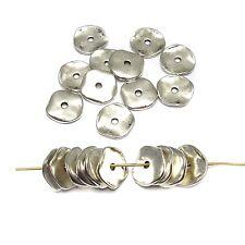Schmuck Scheiben, gewellt, 9mm, Silber, 20 Stück #A20873