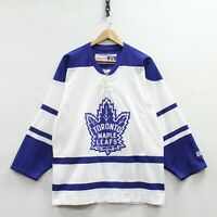 Vintage Toronto Maple Leafs CCM Jersey Size Small Tie Up NHL Hockey