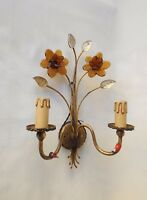 Sconce / Applique florale Jonquille Banci, DLG Maison Bagues, Italie circa 1960