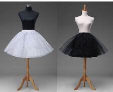 White Short Petticoat Crinoline Underskirt Tutu Bridal Wedding Dress Skirt Slip