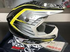 JT Racing ALS 2.0 Dirt Bike Offroad MX Helmet, Black/Yellow/White, Large