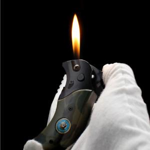 Butane Soft Flame lighter with Pocket Knift Cool Gift