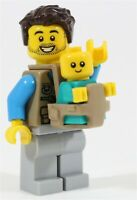 LEGO CITY DAD & BABY MINIFIGURES BABY CARRIER FATHER - MADE OF GENUINE LEGO