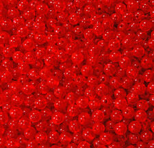 Fire Red 8mm Round Beads 250pc made in USA for crafts fishing jewelry