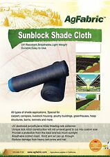 Agfabric 50% Sunblock Shade Cloth for Plant Cover Greenhouse Barn 12Ft x 20Ft