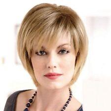 Trendy Fluffy Short Straight Dark Blonde Synthetic Hair Wig For Women