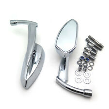 Chromed Blade Mirrors For Kawasaki Vulcan Honda Rebel Shadow Yamaha R1 R6 Cruise
