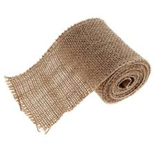 2 Meters Rustic Wedding Party Natural Jute Burlap Hessian Ribbon 80mm Wide
