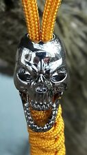 Drunken Roger Bottle Opener Skull Lanyard Paracord bead Brass