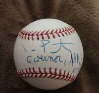 TIM PAWLENTY SIGNED MLB BASEBALL GOVERNOR MINNESOTA 2010 W/COA+PROOF RARE WOW