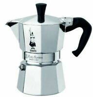 Bialetti 3 Cup Moka Express Stovetop Espresso Coffee Maker Pot Latte 6 ounce NEW