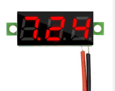 Mini Size LED Panel Voltage Meter 3-Digital RED LCD Display Adjustment Voltmeter