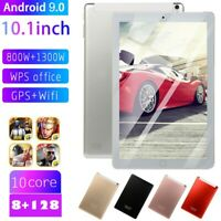 "10.1"" WIFI/4G-LTE 8GB+128GB Android 9.0 bluetooth PC Tablet HD IPS Dual Camera"