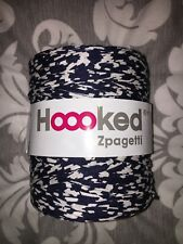 Hoooked By Zpaghetti Navy & Off White T Shirt Fabric Yarn Large Brand New