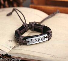 12x/lot adjustable hope bracelet mens bracelets womens bracelets