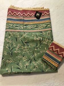 NWT Collier Campbell Gypsy Dance Twin Size Bed Sheet Flat & Standard Case