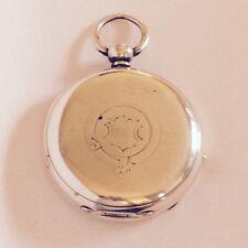 Henry Henri Harris Co Geneve Pocket Watch Parts Lever Set Sterling Case 74g S16