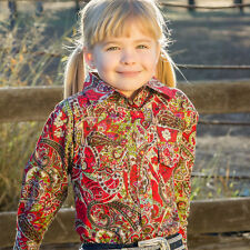 GIRLS BRIGALOW L/S PAISLEY SHIRT RIVERINA RED100% COTTON SIZES 2 -14 A/V