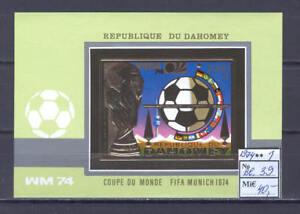 Soccer 1974 A34 Dahomey block foil FIFA World Cup CV 40 eur