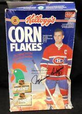 "Maurice Richard ""Montreal Canadiens"" Signed Kellogg's Corn Flakes Box JSA Auth."
