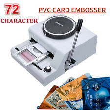 72 Character Letters Embossing Machine Manual Embosser PVC/ Credit Card Stamping