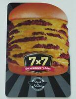 Steak 'n Shake Gift Card Die-Cut Hamburger 7 x 7 - No Value - I Combine Shipping