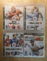 Ps3 Sports Fifa Soccer 10 Nba Live Major League Baseball 2k10 Ncaa Football Espn