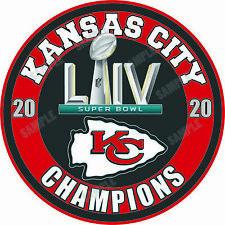 Kansas City Chiefs Super Bowl LIV 54 Champions  Decal / Sticker
