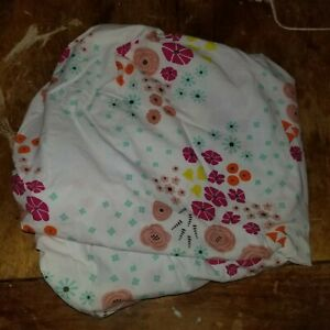 """Land of Nod """"Multi Flower"""" Toddler Fitted Sheet"""