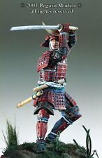 Pegaso Models 54mm Samurai Warrior Momoyama Period Metal Figure Kit #54-090